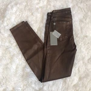 7 for All mankind copper skinny jeans